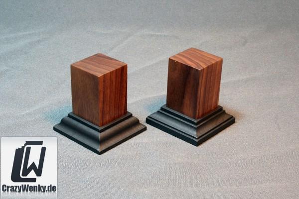Holzsockel 30x30mm (55mm Höhe) Nussbaum