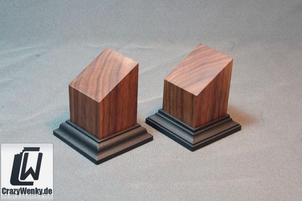 Holzsockel 40x40mm (Büste) Nussbaum